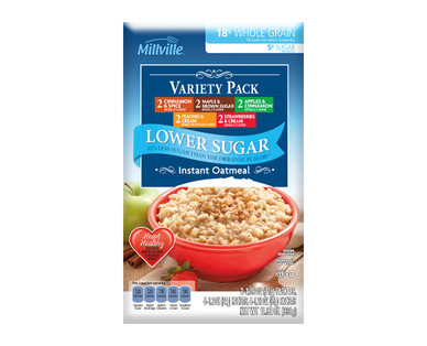 Millville Low Sugar Instant Oatmeal Assorted Varieties