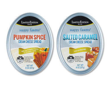 Happy Farms Pumpkin Spice and Salted Caramel Cream Cheese