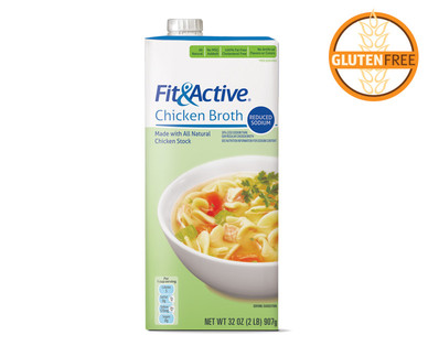 Fit & Active Reduced Sodium Chicken Broth
