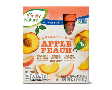 Simply Nature Apple Peach Fruit Squeezies