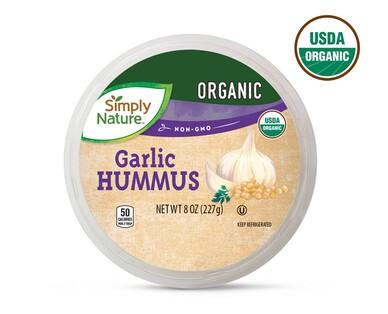 Simply Nature Organic Hummus, Garlic