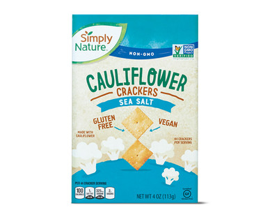 Simply Nature Sea Salt Flavored Cauliflower Crackers