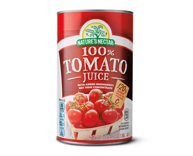 Nature's Nectar Canned Tomato Juice