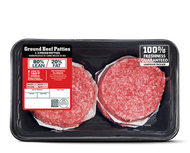 Family Pack 80% Lean Ground Beef Patties