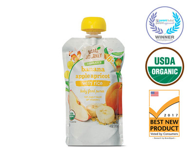 Little Journey Banana Apple Apricot Rice Baby Food Puree