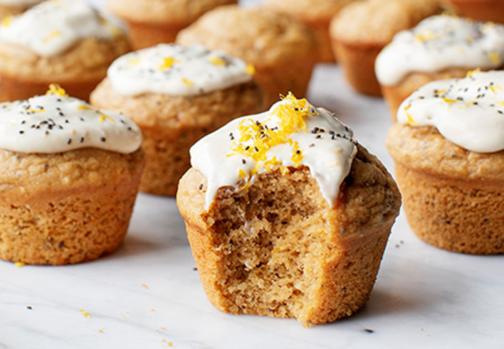 Vegan Meyer Lemon Muffins