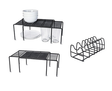 Easy Home Mesh Kitchen Cabinet Organizers View 1