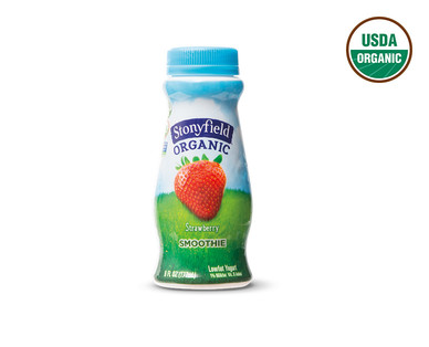 Stonyfield Organic Strawberry or Wildberry Yogurt Smoothies View 3