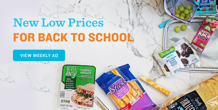 New Low Prices for Back to School, View Weekly Ad