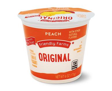 Friendly Farms Lowfat Peach Yogurt