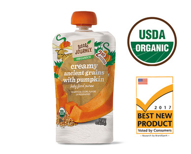 Little Journey Organic Creamy Ancient Grains with Pumpkin Puree
