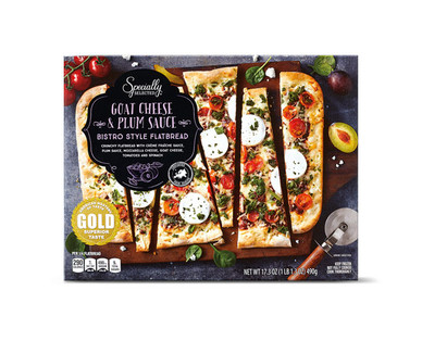 Specially Selected Spinach, Goat Cheese & Plum Sauce Flatbread