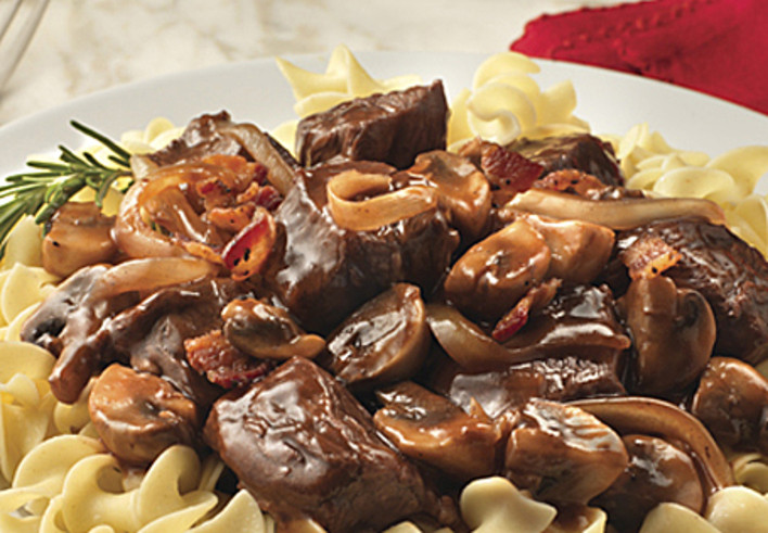 Slow Cooker Beef Bourguignon for Two