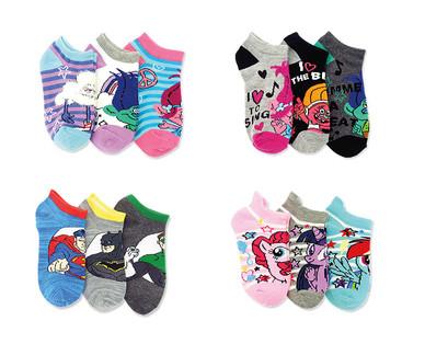 Licensed Toddler and Children's 3-Pack Socks View 3