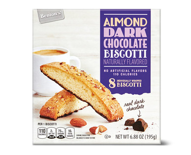 Benton's Almond Dark Chocolate Biscotti