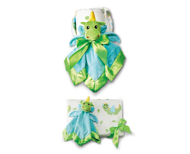 Little Journey 2-Piece Plush Baby Blanket and Cuddle Buddy View 4