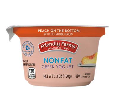 Friendly Farms Peach Nonfat Greek Yogurt