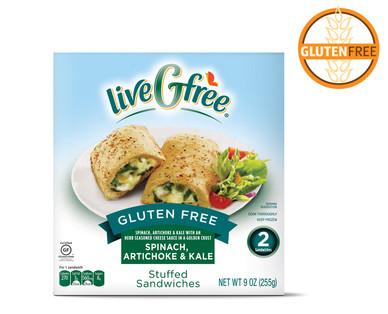 liveGfree Gluten Free Spinach, Artichoke & Kale Stuffed Sandwiches