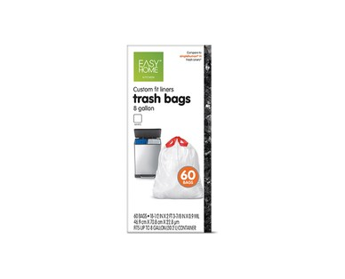Easy Home Dual Trash/Recycle 8-Gallon Liners View 1