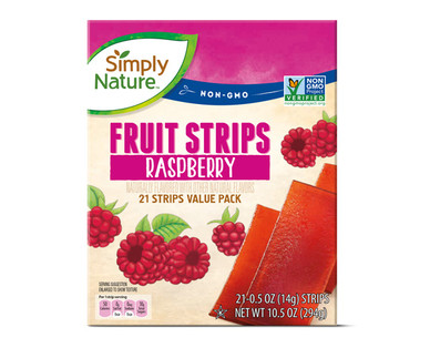 Simply Nature Raspberry Fruit Strips