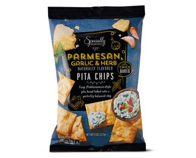 Specially Selected Parmesan, Garlic & Herb Pita Chips