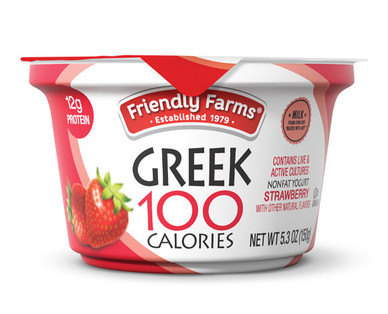 Friendly Farms Nonfat Blended Strawberry Yogurt