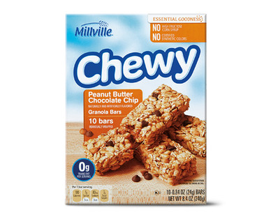 Millville Peanut Butter Chocolate Chip Chewy Granola Bars