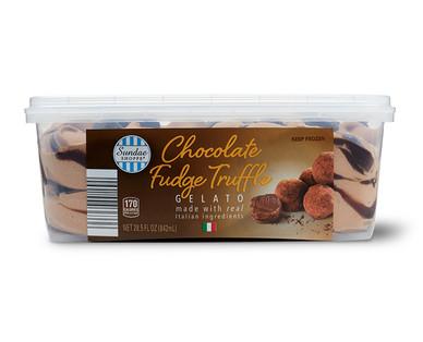Sundae Shoppe Pistachio Biscotti or Chocolate Fudge Truffle Gelato View 1