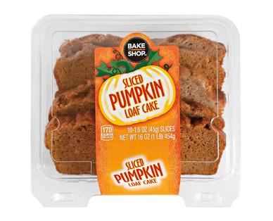 Bake Shop Pumpkin Sliced Loaf Cake