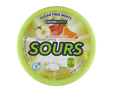 Excitemint Sugar Free Yellow Sours