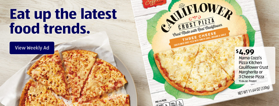 Mama Cozzi's Pizza Kitchen Cauliflower Crust Margherita or 3 Cheese Pizza. $4.99 each. View weekly ad.