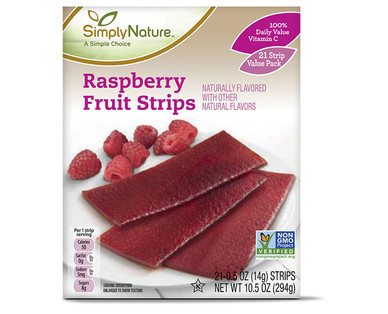 SimplyNature Raspberry Fruit Strips
