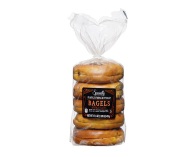 Specially Selected Maple French Toast Bagels