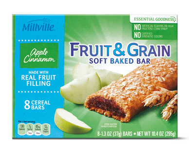 Millville Apple Cinnamon Fruit & Grain Bars