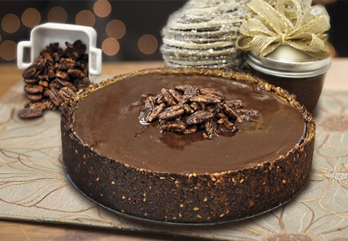 Sweet Potato Chocolate Teasecake