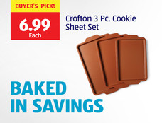 Buyer's Pick, $6.99 each: Crofton 3 Piece Cookie Sheet Set. View Details.