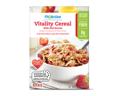 Fit and Active Vitality Cereal With Red Berries