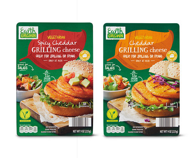 Earth Grown Vegetarian Cheddar or Spicy Cheddar Grilling Cheese