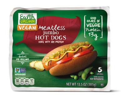 Earth Grown Meatless Jumbo Hot Dogs