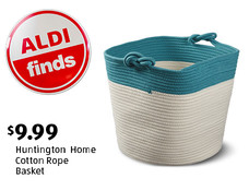 ALDI Find: Huntington Home Cotton Rope Basket. View details.