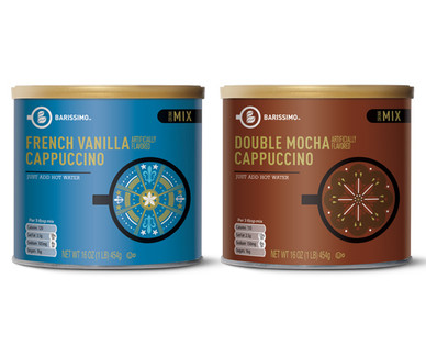 Barissimo Cappuccino Mix French Vanilla or Double Mocha