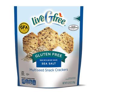 liveGfree Gluten Free Sea Salt Multi Seed Crackers