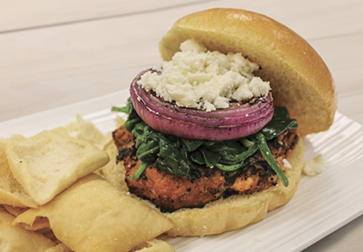 Taste of the Mediterranean Turkey Burger