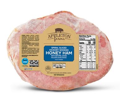 Appleton Farms Spiral Sliced Half Ham Packaged