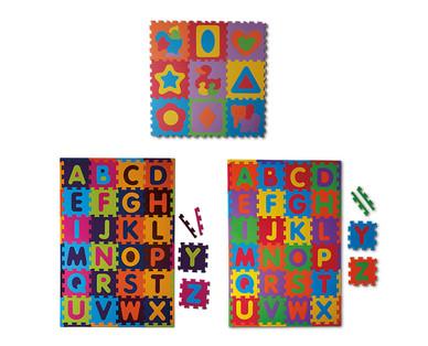 "Little Journey Alphabet or 17"" Shapes Foam Mat View 2"