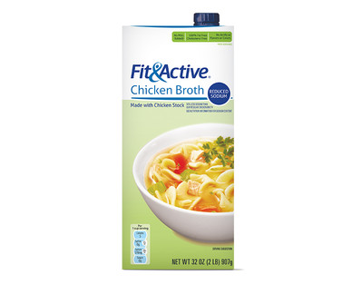 Fit & Active® Reduced Sodium Chicken Broth