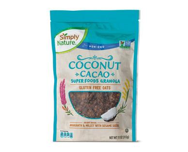 Simply Nature Coconut Cacao Super Foods Granola