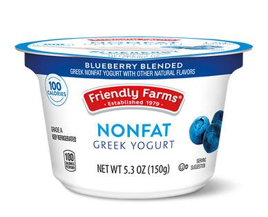 Friendly Farms Blueberry Blended Nonfat Greek Yogurt