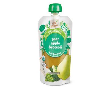 Little Journey Apple Broccoli Pear Baby Food Puree