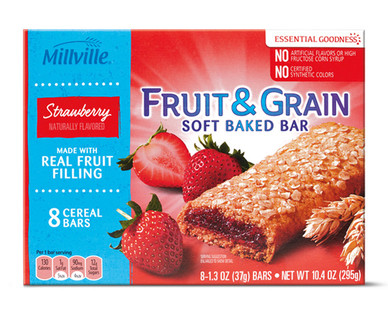 Millville Strawberry Fruit & Grain Bars